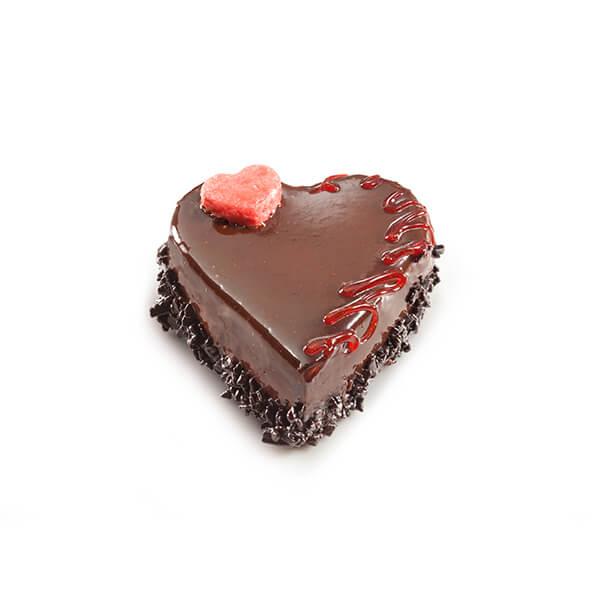 Chocolate Heart Individual Cake