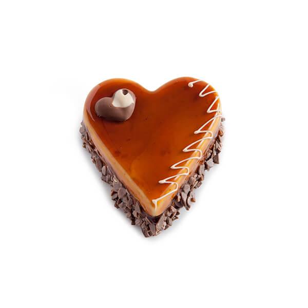 Heart Chocolate - Caramel Cake