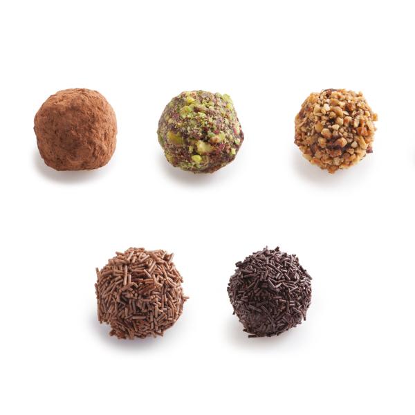 Τρουφάκια Mix (Κακάο-Φυστ.Αιγίνης-Καραμ,Τρουφ.Γαλακτ/Σκούρα)