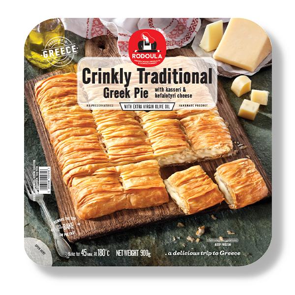 Greek Traditional Crinkly Kasseri Pie