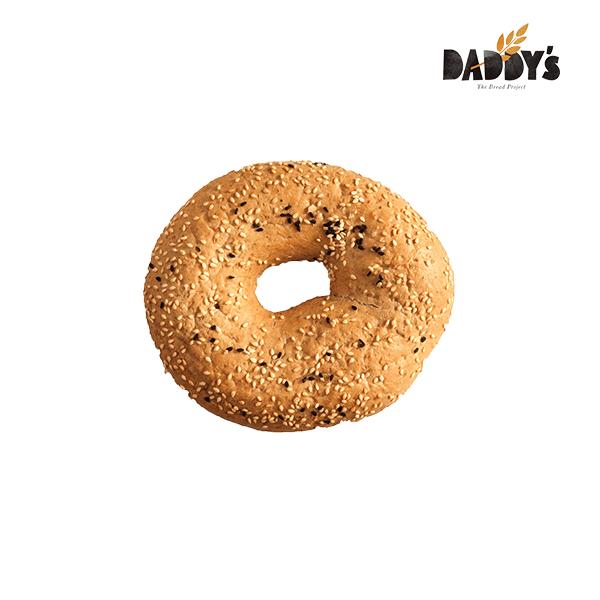 Daddy's | Κουλούρι Sandwich Ολικής Άσπρο-Μαύρο Σουσάμι