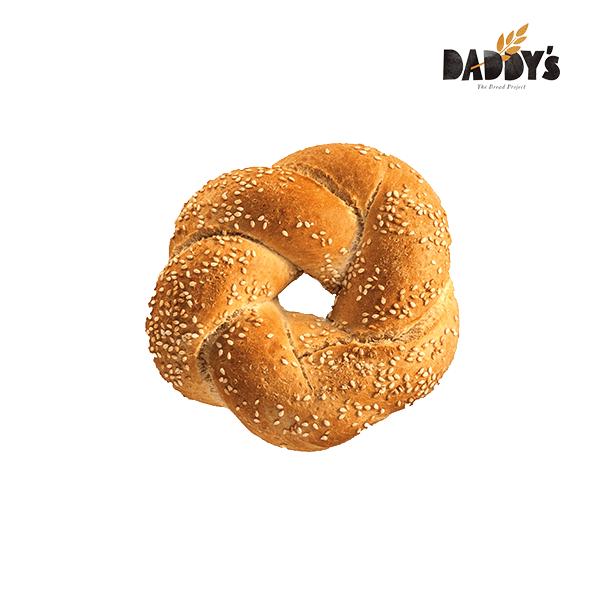 Daddy's | Κουλούρι Πλεξούδα Sandwich Λευκό