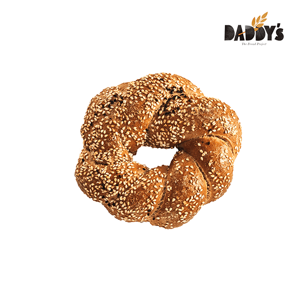 Daddy's | Κουλούρι Πλεξούδα Sandwich Ολικής Άσπρο-Μαύρο Σουσάμι